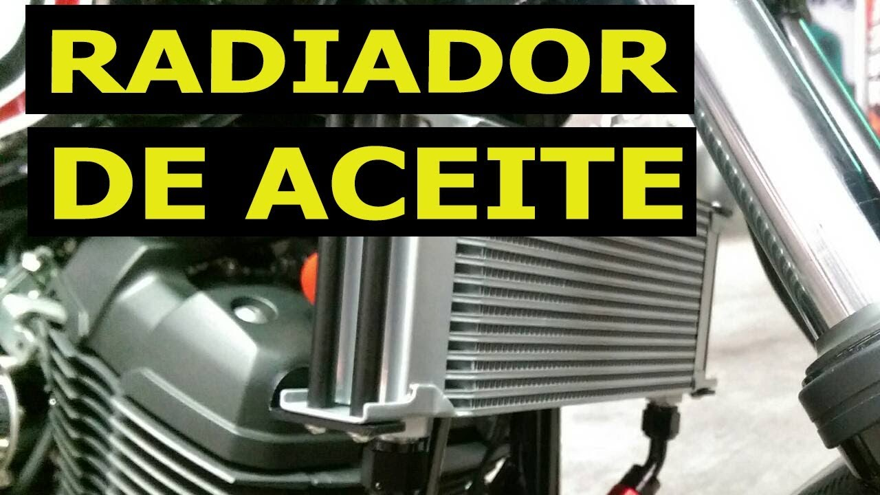 Radiador de aceite para moto 250cc