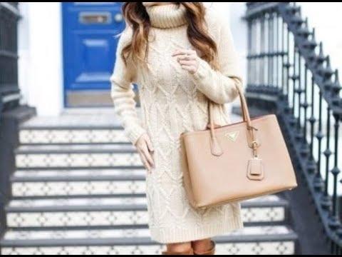 Туника платье спицами схема