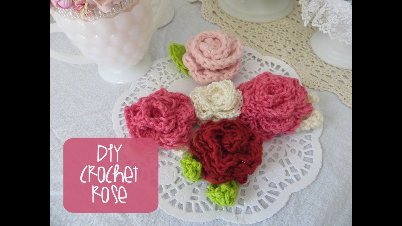 Chic and cheap how to crochet a rose youtube izmirmasajfo