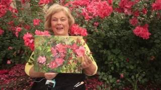 Paint Wild Red Roses -- Rose Painting Lesson