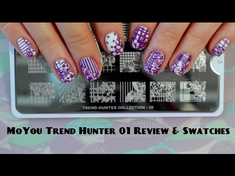 MoYou Trend Hunter 01 Review & Swatches - Обзор пластины для стемпинга