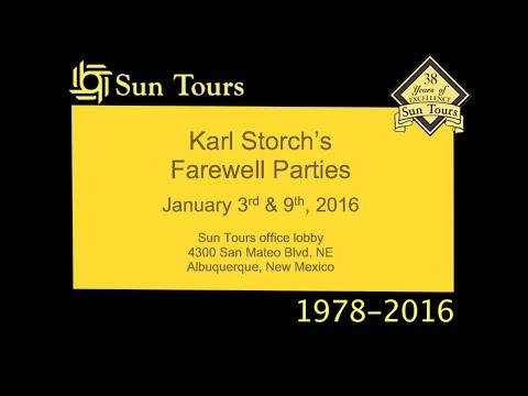 Karl Storch's Sun Tours Farewell Parties / Jan 3, 9, 2016