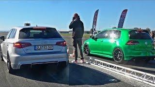 Audi RS3 vs VW Golf 7R Turbo MK3 VR6 MK6 GTI SOUND Compilation