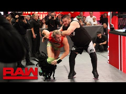 Kevin Owens obliterates Tyler Breeze before their match: Raw, Sept. 10, 2018