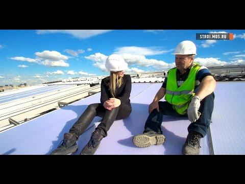 Стадион Лужники новый газон и замена крыши