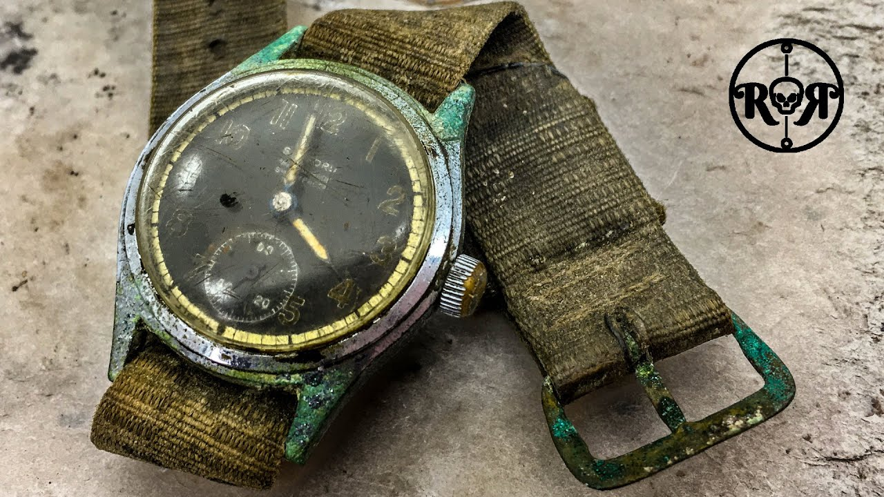 Restoration of a rare vintage ww2 military watch - nickel and chrome plating - Sanford AS1123