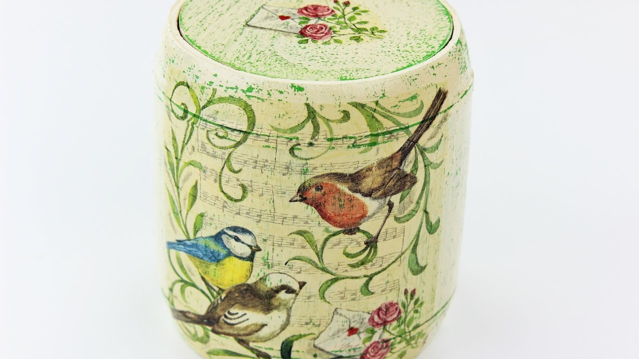 How to make a decoupage wooden box fast easy tutorial for Wooden box tutorial