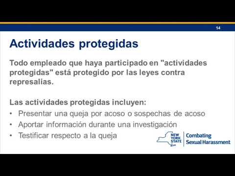 Sexual harassment in the workplace spanish videos