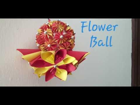 DIY How to make Paper Flower Ball/paper craft ideas/Decorative Flower ball/kusudama Flower ball