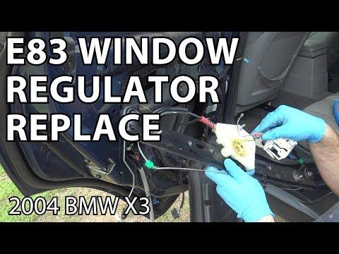 BMW X3 E83 Window Regulator Replacement DIY