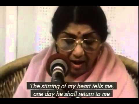 Lata Mangeshkar sings Ayega Aanewala with La La La