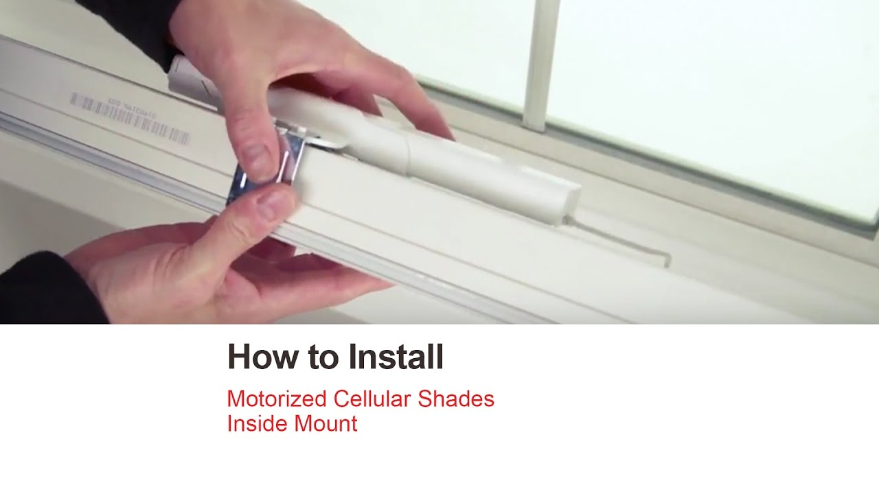 Bali Blinds How To Install Motorized Cellular Shades Inside Mount