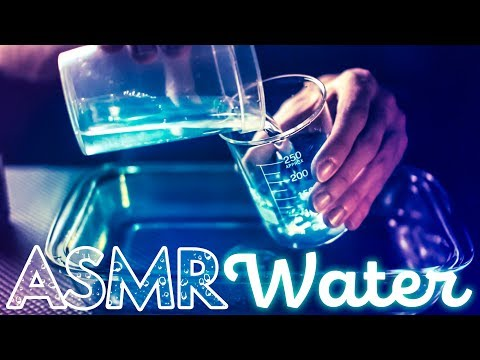 [ASMR] Liquid WATER & Glass / EAU Liquide & Verrerie - NO TALKING