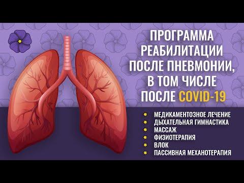 Восстановление и реабилитация после пневмонии и бронхита, в том числе после Covid-19
