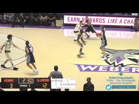 6A Boys Basketball: West Jordan vs Kearns High School UHSAA 2019 State Tournament Round 1