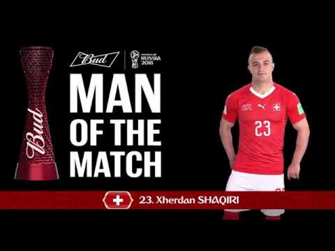 sale retailer 7d93d b0db1 Xherdan SHAQIRI (Switzerland) - Man of the Match - MATCH 26