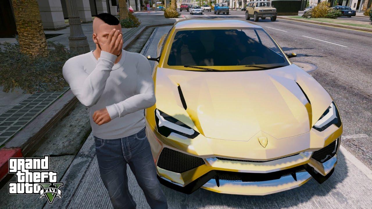 Gta 5 Real Life Mod 120 Gold Lamborghini Urus Youtube