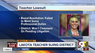 Lakota teacher sues school system over firing