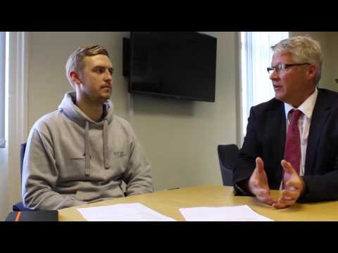 Jamie Bennett talks to Peter Byers about being a Course Rep