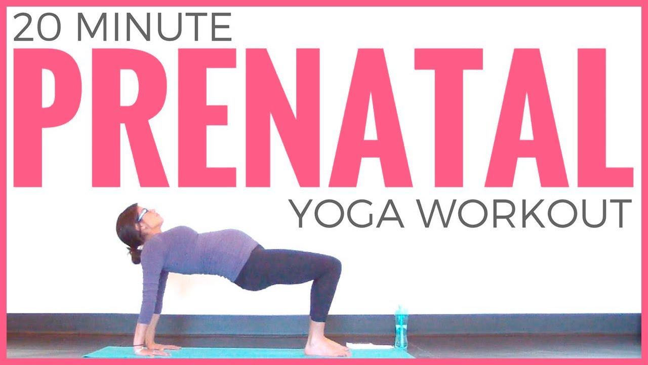 Prenatal Yoga Workout (20 minute Yoga) Pregnancy Yoga for ALL Trimesters |  Sarah Beth Yoga