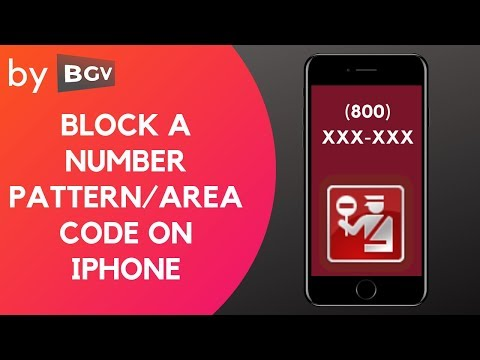 Block a number pattern or area code on your iPhone (BhargavGV)