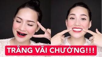 LÀM TRẮNG RĂNG TẠI NHÀ ĐƠN GIẢN HIỆU QUẢ | TRẮNG VÃI CHƯỞNG !!! | Hà Linh Official
