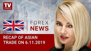 InstaForex tv news: 06.11.2019: USD flat amid subdued trade (USDX, JPY, USD, AUD)