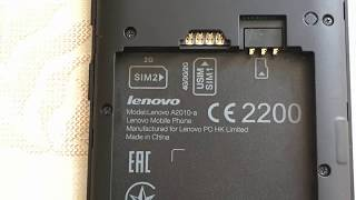 Сброс Google аккаунта Lenovo A2010, FRP unlock method