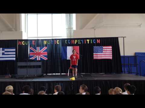 Natalie sing at British School of Chicago