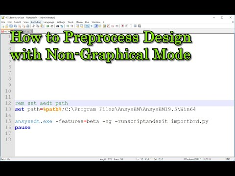 How To Preprocess Design With Non-Graphical Mode