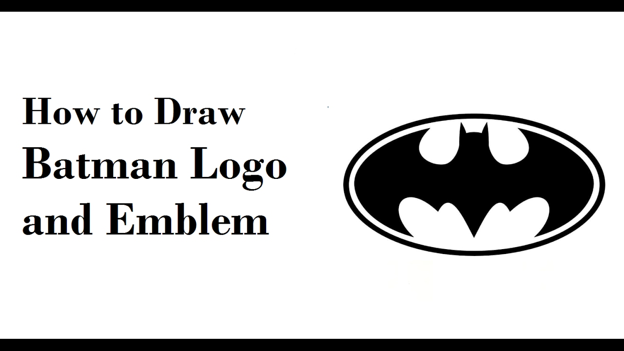 How to draw batman easy drawingnow - How To Draw Batman Emblem Logo And Symbol Step By Step