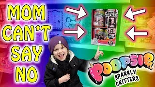 MOM CAN'T SAY NO! SHOPPING FOR POOPSIE SPARKLY CRITTERS!