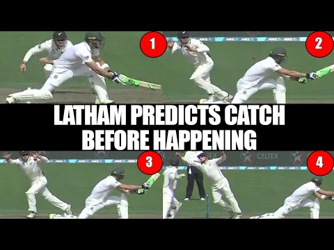 Tom Latham anticipates Du Plessis's catch before happening | Oneindia News