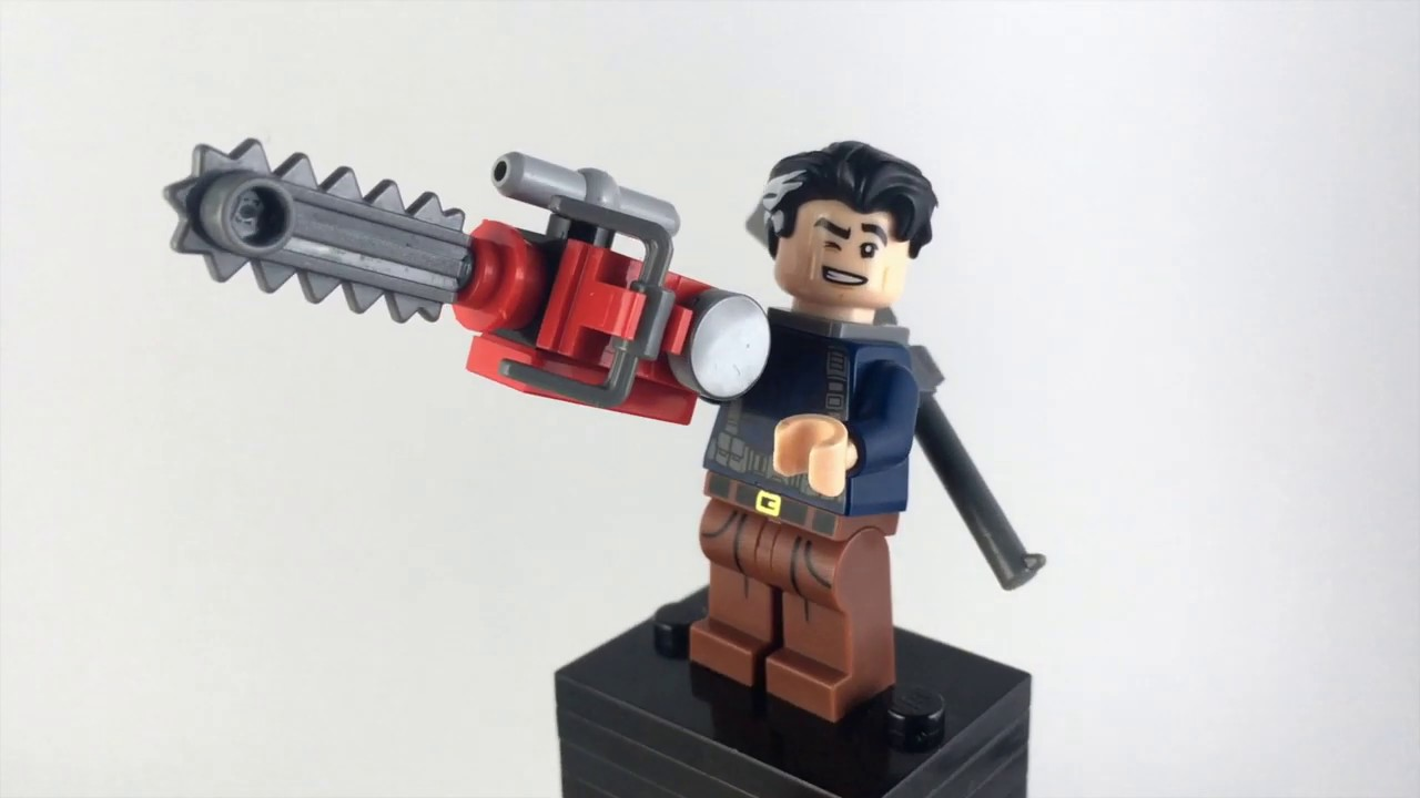 Evil Dead Minifigure on lego bricks Army or Darkness Ash Custom