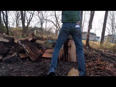 Splitting monster wood with a (12lb) monster maul