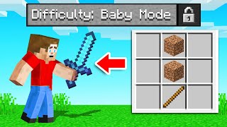 So We Added BABY MODE To MINECRAFT! (super easy)