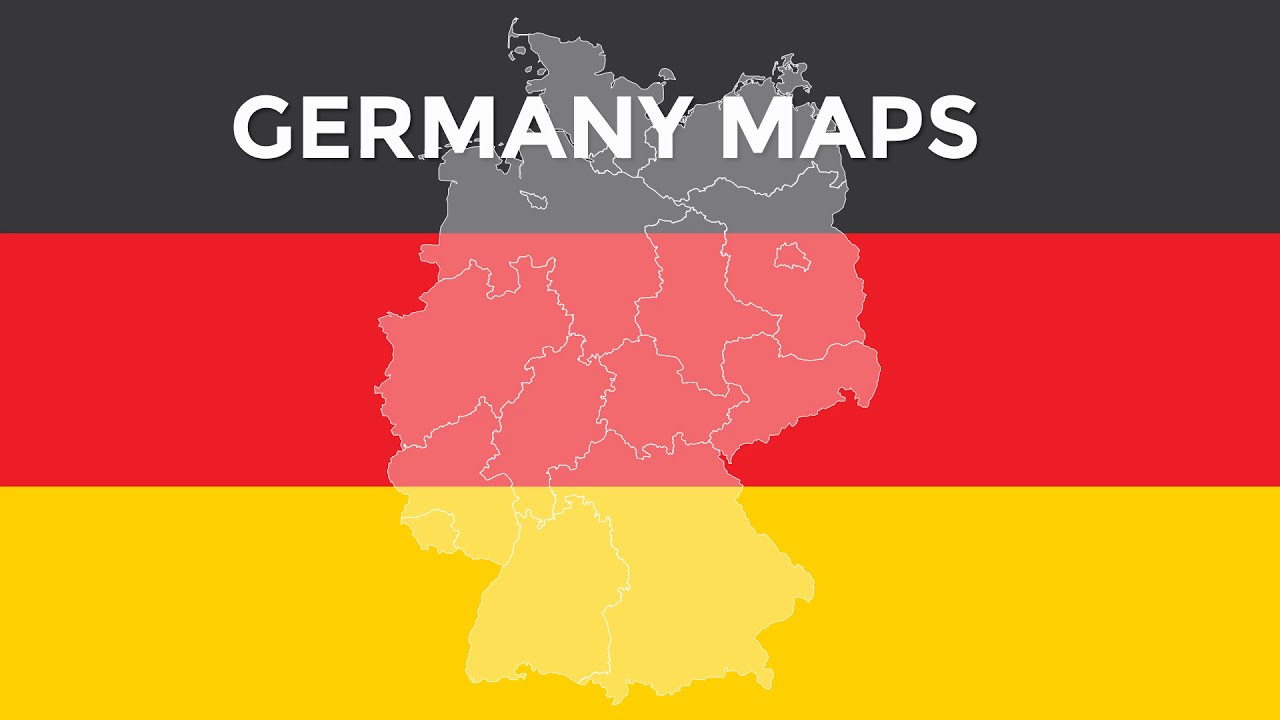 maps of germany - powerpoint maps - templates