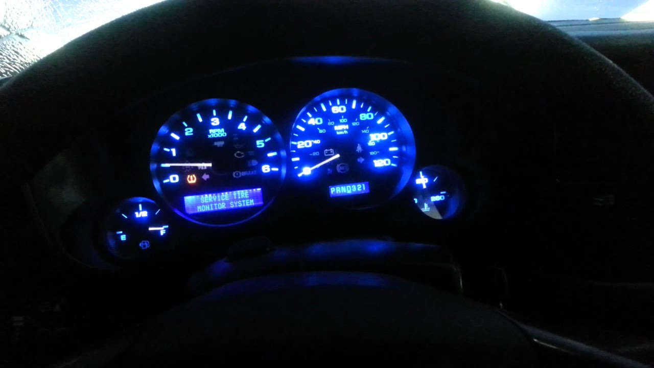 2008 Gmc Sierra Gauge Cluster Conversion To Led Youtube