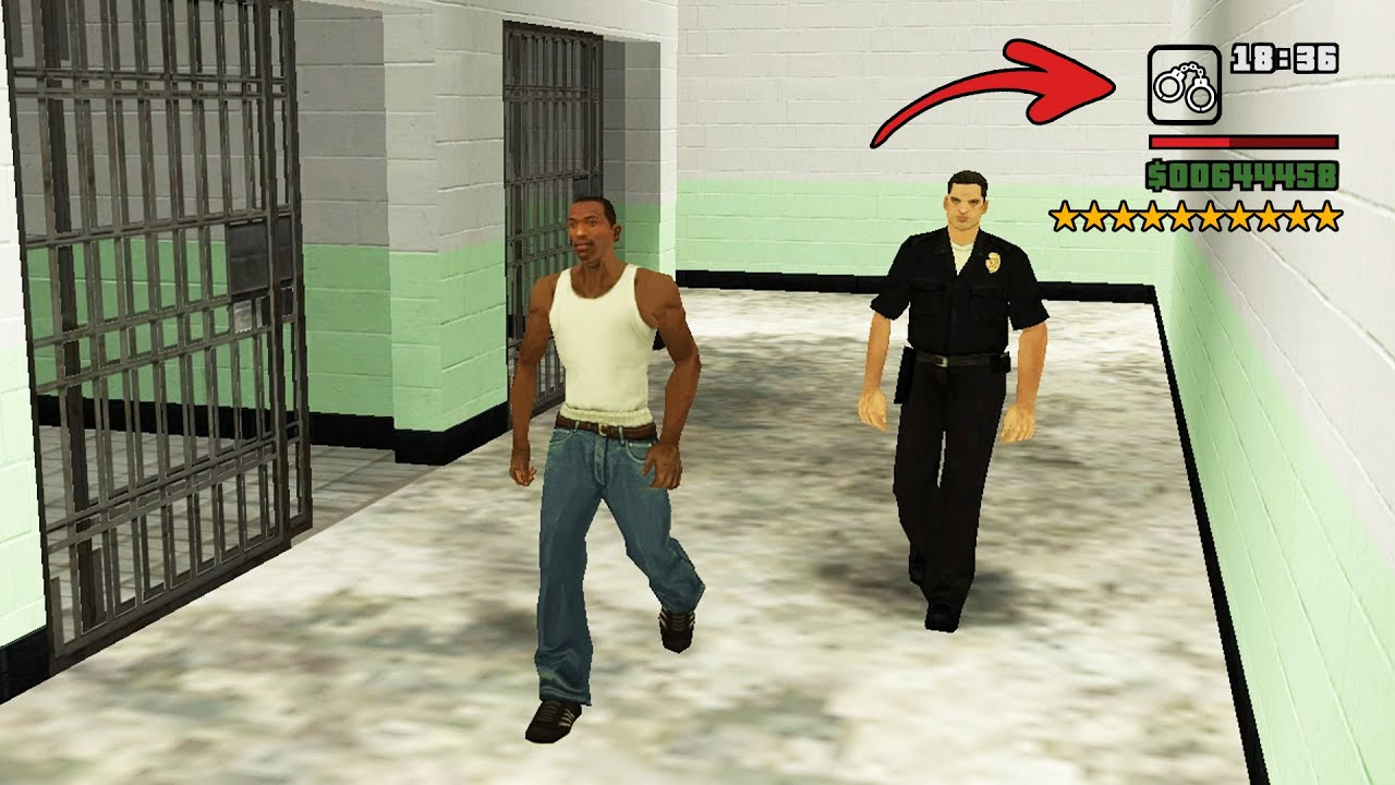 Real Prison in GTA San Andreas! (Secret 10 Stars Arrest Scene) thumbnail