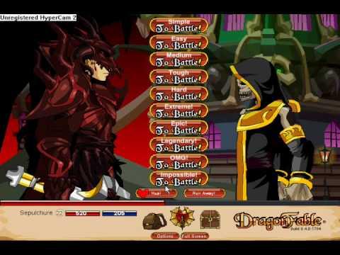 Dragonfable Doom Knight Vs. Impossible crawler