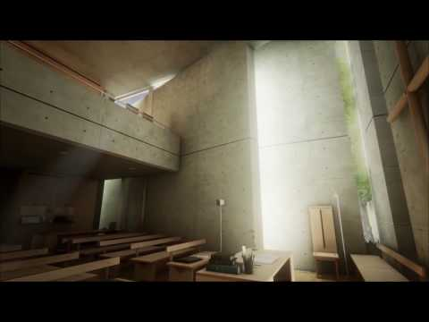 Church of the Light by Tadao Ando - Sunday School Extension - Architectural Interactive navigation