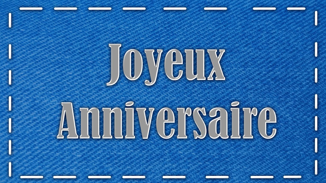 Joyeux Anniversaire Jolie Carte Virtuelle D Anniversaire Blue Jeans Youtube