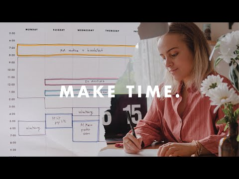 How to make time for EVERYTHING | scheduling tips ⏰
