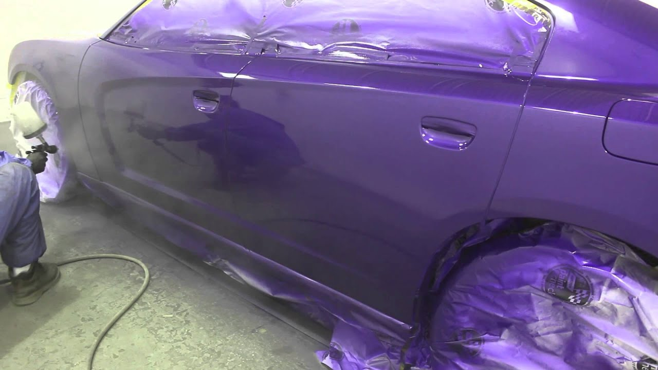 Dodge Charger Purple Paint Job Raw Un Edited