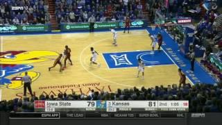 Iowa State at Kansas | 2016-17 Big 12 Men's Basketball Highlights