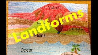 Types of Landforms  for kids -a Video Lesson