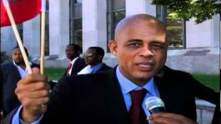 HAITIAN PRESIDENTIAL CANDIDATE MICHEL MARTELLY INTERVIEW WITH PDG OF TELE DIASPORA IN NYC