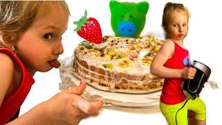 Миа и рецепт Торта на скорую руку. Миа и простые рецепты для детей.