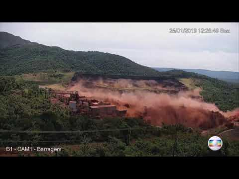 Momento exato em que barragem da Vale se rompe em Brumadinho   Minas Gerais   G1