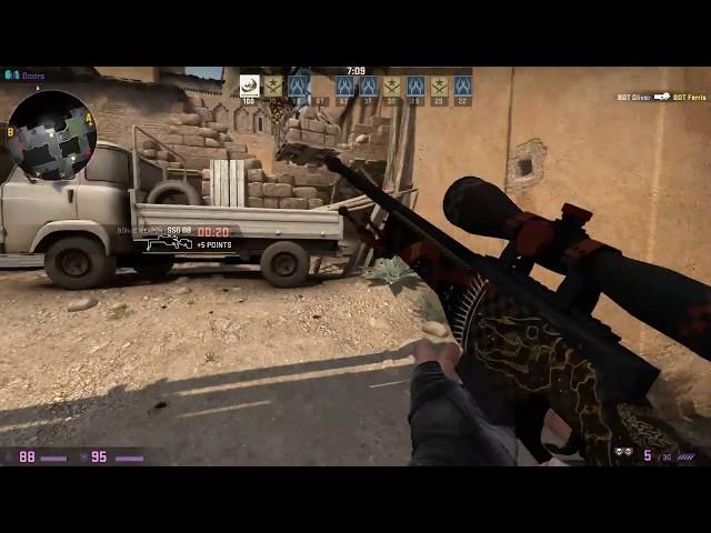 Flick Shot Practice vs  Expert Bots